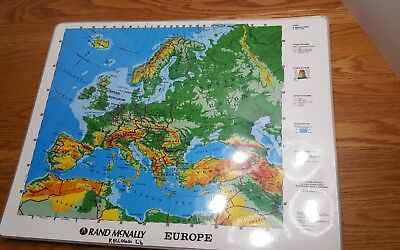 Rand McNally Europe Cold War Laminated Pre-1990 School Maps 17x22 LOT OF 30 DIY