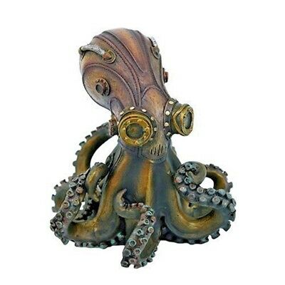 Steampunk Giant Octopus Military Deep Sea Collectible Figurine 5.25