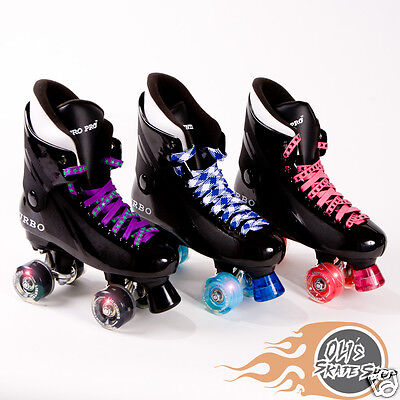 Bauer Style Ventro Pro Turbo Quad Roller Skate Mixed Red//Blue Ventro Wheels