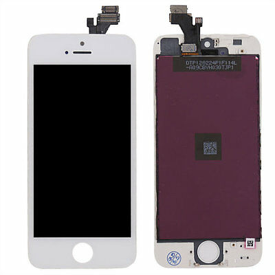 LOT OF 3 LCD DISPLAY SCREEN REPLACEMENT DIGITIZER ASSEMBLY WHITE FIT iPHONE 5