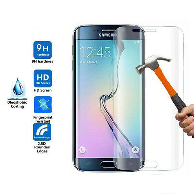 Real Black Curved Tempered Glass Film Full Protection For Samsung S7 edge