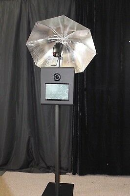"""PORTABLE PHOTO BOOTH - SHELL ONLY - """" X-1S VERSION 2"""" w/ CAMERA TILT - Black"""
