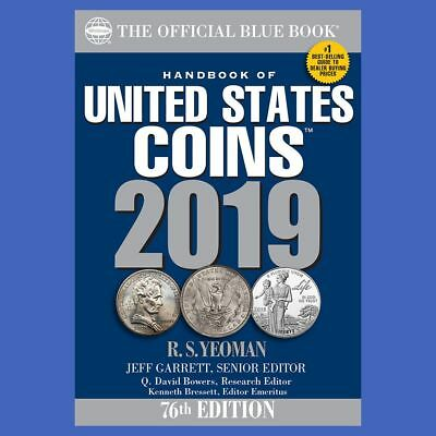 2019 Blue Book Of US Coins Softcover Soft Cover Blue in Stock and Shipping!