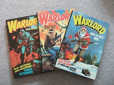 3 x WARLORD FOR BOYS ANNUALS 1978/1982/1985