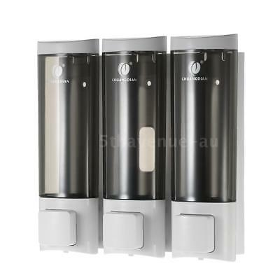 CHUANGDIAN Manual Soap Dispensers Wall-mounted Three Chamber Shampoo Box Z3J3