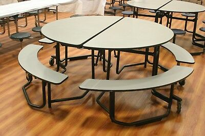 CLOSEOUT CAFETERIA lunchroom Round TABLES only 2 left.  BOTH FOR ONLY $500.