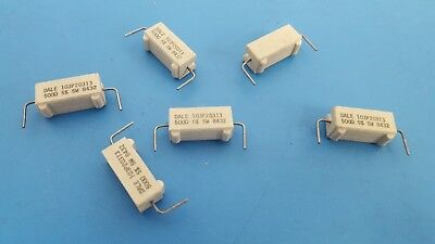 Power Resistor, Ceramic Cement, 5W, 500 Ohm, 5% , DALE, 103P20313, 25Pcs