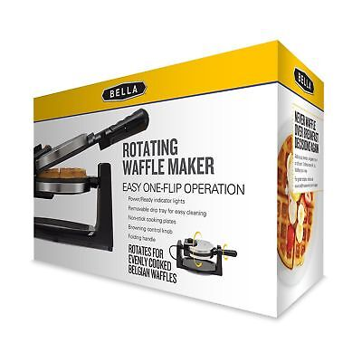 Bella GH-805 13991 Rotating Waffle Maker, Easy One-Flip Operation,Folding Handle