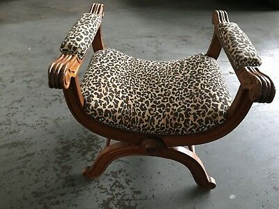 Antique Upholstered Stool/chair