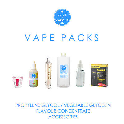Vape Pack - PG / VG + Flavours + Accessories + Free Postage (Save 15%)