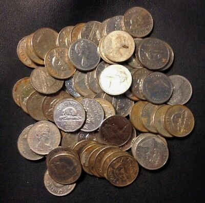 Old Canada Coin Lot - .999 Nickels (Pre-1981) Overstock - 60+ Coins - Lot #A24