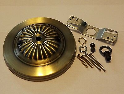 """5"""" Antique Brass Finish Ceiling Canopy Kit For Light Fixtures New 54617J"""