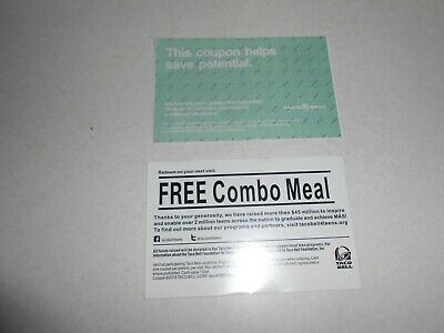 50 Grab Bag Combo Meal Cards