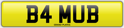 Bam Ub Number Plate Bammy B4 Mub Bams No Added Fees Registration Bamm Car Reg