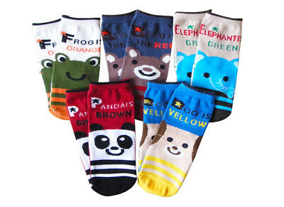 5 Pairs Newborn Baby Boy Girl Cartoon Cotton Socks Infant Toddler Kids Soft Sock