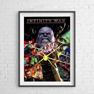 MARVEL SUPERHERO AVENGERS INFINITY WAR POSTER PICTURE PRINT Sizes A5 to A0 **NEW