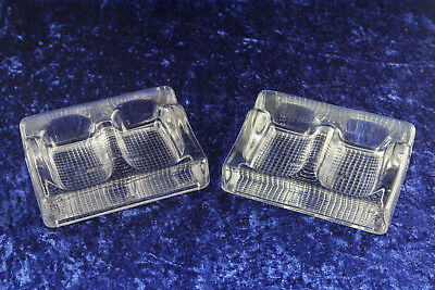 Art Deco double inkwells and penholder heavy glass 2 pieces