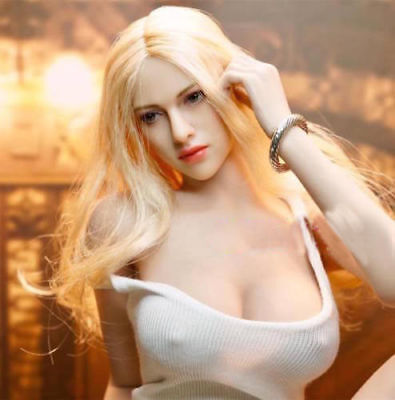 TBLeague Large Bust Suntan Seamless Body Blonde Hair Female Head 1/6 Figure Sets