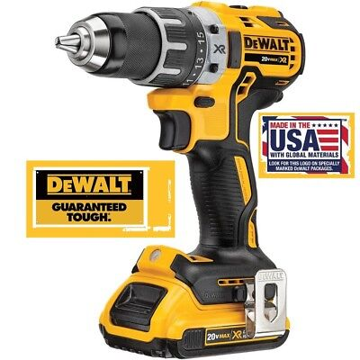 "NEW DeWALT DCD791 20V MAX XR Li-Ion Brushless 1/2""  Drill Driver +DCB203 Battery"