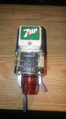 VINTAGE 7-UP ADVERTISING Carbonic SODA FOUNTAIN BAR TAP DUAL DISPENSER McCann's