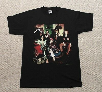 Aerosmith Nine Lives North American Tour Shirt Vintage 90's  - 1997 Large