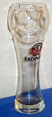 Rare Brand New Soccer 2014 World Cup Brazil .5L Beer Glass Erdinger Weissbrau