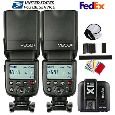 Godox V850II 2.4G Camera Flash Speedlite X1T-N Transmitter For Nikon D90 D7500
