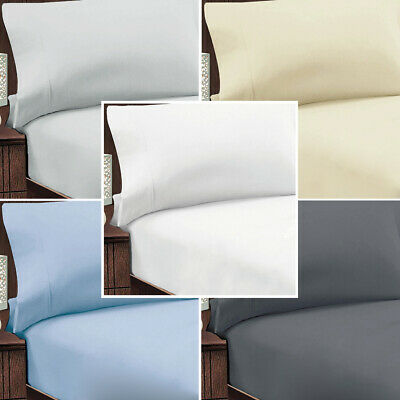 Abrazo Egyptian Cotton Flannel Flannelette Fitted Sheet & Pillowcase Combo