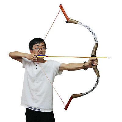 """55/"""" Traditional Archery Snakeskin Recurve Bow Longbow Hunting Target Men 70lb"""