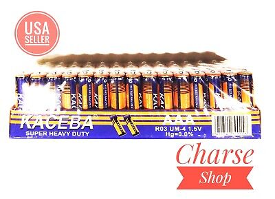 US WHOLESALE LOT Pack of 60 EXTRA Heavy Duty 1.5V AAA Batteries *USA Seller*