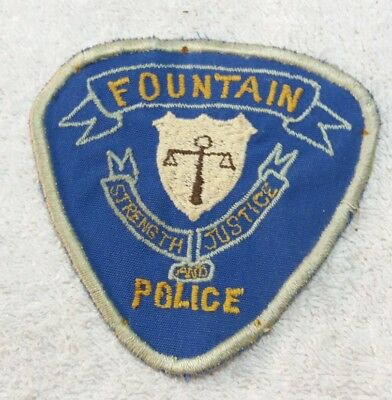 Rare Early Fountain Colorado Police Department Shoulder Patch