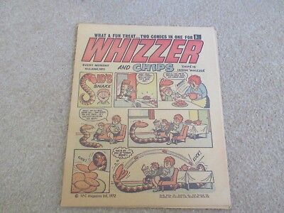 Whizzer And Chips Comic, June 10th 1972- Good Condition