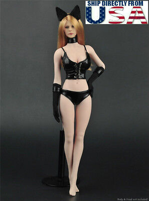 "1//6 Sweater Leather Lingerie Set A For 12/"" Phicen Hot Toys Female Figure ❶USA❶"