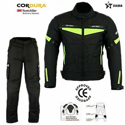 Men's Motorbike Motorcycle Cordura Waterproof CE Armour Jackets Trouser Suit