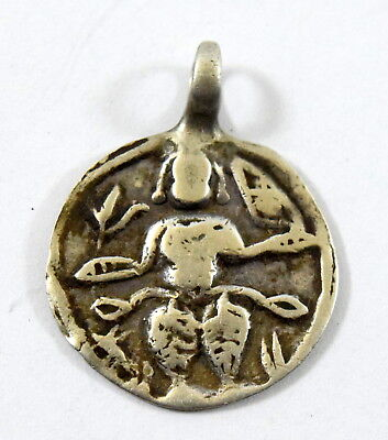 Vintage Rare Beautiful Silver Tribal Religious Hindu God Amulet Pendant. G10-78