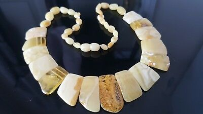 45 Cm Genuine Beautiful Baltic Amber Adult Necklace - Beads