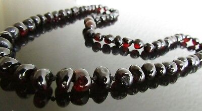 45 Cm Genuine Beautiful Baltic Amber Adult Beads - Necklace Cherry Colour