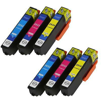 6x Patronen COLOR +Chip für Epson Expression Premium XP-605 XP-610 XP-615