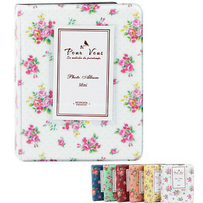 64 Pocket Flower Polaroid Photo Album Case For Fujifilm Instax Mini 7s 8 25 90 K