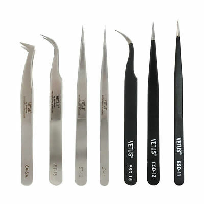 Vetus High Quality Tweezers Straight Curved For Individual Eyelash Extensions