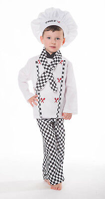 Ex ELC Child Chef Costume Boys/Girls Outfit Book Day Fancy Dress Outfit