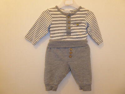 H&M Baby Boys 2 Piece Babygrow & Trousers Matching Outfit Set NEWBORN 1-2 Months