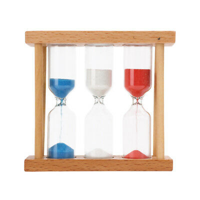 Wood Sand Clock Hourglass Timer 1,3,5 Min for Tea/Cafe Kid Toy Birthday Gift