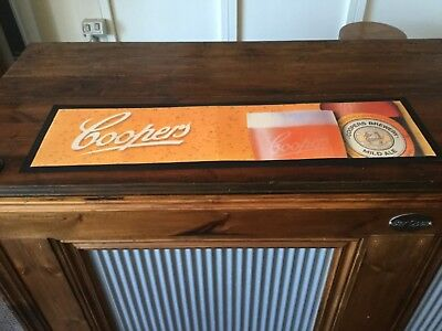Rubber backed COOPERS BEER Bar Mat