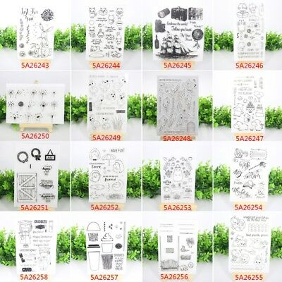 Transparent Clear Silicone Rubber Stamp Cling Diary Scrapbooking Card Crafts DIY