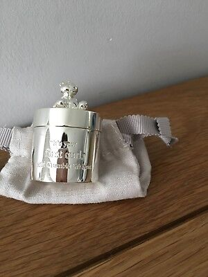 Mamas & Papas Silver Plated Tooth and Curl Box BNWT sealed
