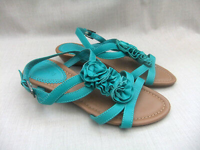 d210d4203692 New Clarks Santa Rock Womens Turquoise Leather Wedge Sandals Size 4   37