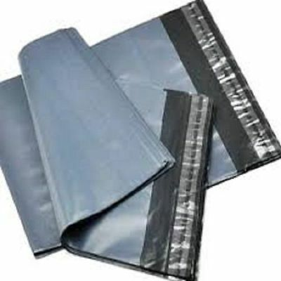 5 Strong Grey Mailing Packaging Plastic Bags Large Size 17' x 24' QUICK POSTAGE