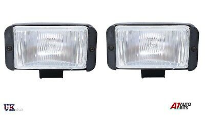 UNIVERSAL PAIR X2 12V 4X4 OFFROAD CAR FOG SPOT LIGHT LIGHTS LAMP 145X75mm