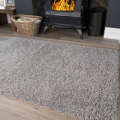 Light Silver Grey Soft Modern Thick Shaggy Cheap Large Small Living Room Rug Mat